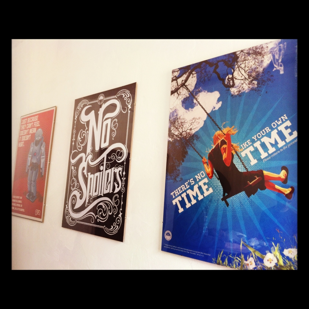 TTB posters on wall